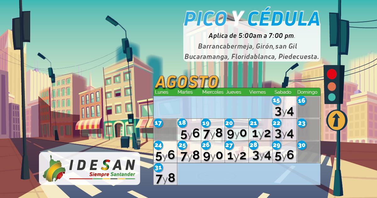 Pico y Cédula - Agosto 2 Santander